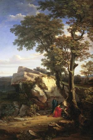 Landscape with St Sebastian Cured by the Holy Women, 1851