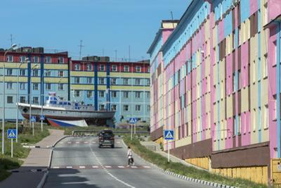 Coloured Apartment Houses