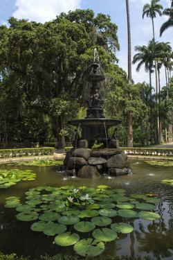 Fountain of the Muses, Rio De Janeiro Botanical Gardens, Rio De Janeiro, Brazil, South America by Gabrielle and Michael Therin-Weise