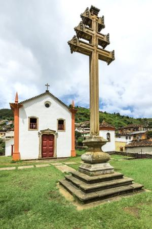 Padre Faria Church, Ouro Preto, UNESCO World Heritage Site, Minas Gerais, Brazil, South America