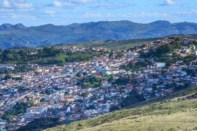View over Diamantina, UNESCO World Heritage Site, Minas Gerais, Brazil, South America