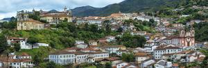View over Ouro Preto, UNESCO World Heritage Site, Minas Gerais, Brazil, South America by Gabrielle and Michael Therin-Weise