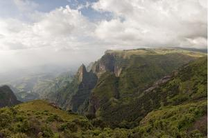 Simien Mountains National Park, UNESCO World Heritage Site, Amhara Region, Ethiopia, Africa by Gabrielle and Michel Therin-Weise