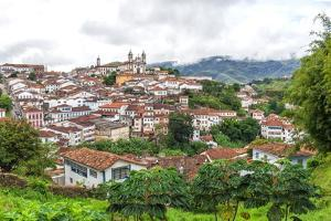 View over Ouro Preto, UNESCO World Heritage Site, Minas Gerais, Brazil, South America by Gabrielle and Michel Therin-Weise