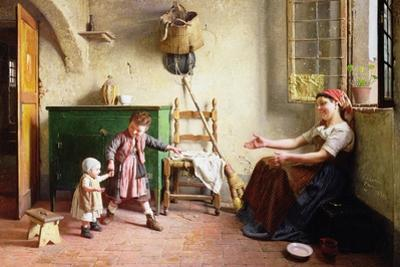 The First Steps, 1876 by Gaetano Chierici