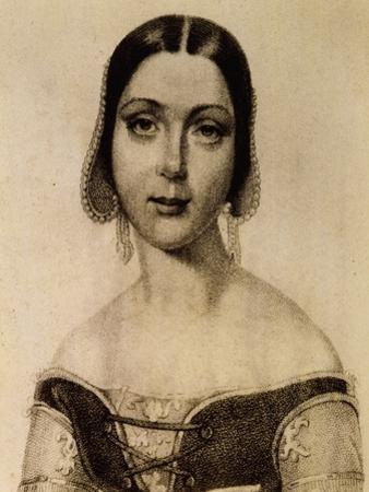 Portrait of Fanny Goldberg, Soprano, Interpreter of Caterina Cornaro