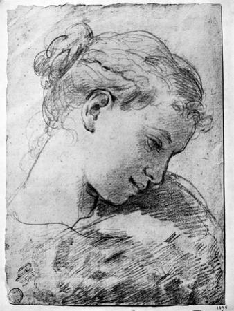 Study of a Girl's Head, 18th Century