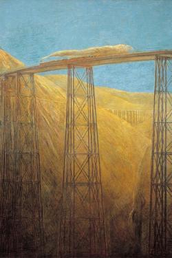 Pacific Railway by Gaetano Previati