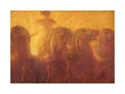 Triptych of the Daytime. the Chariot of the Sun