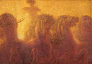 Triptych of the Daytime. the Chariot of the Sun by Gaetano Previati