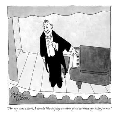 """""""For my next encore, I would like to play another piece written specially …"""" - New Yorker Cartoon by Gahan Wilson"""