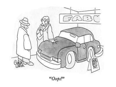 """""""Oops!"""" - New Yorker Cartoon by Gahan Wilson"""