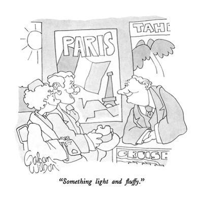 """""""Something light and fluffy."""" - New Yorker Cartoon by Gahan Wilson"""