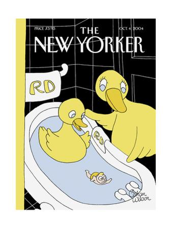 The New Yorker Cover - October 4, 2004 by Gahan Wilson