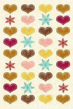 Christmas - Heart Flakes by Gaia Marfurt