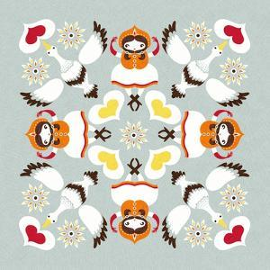 Ducks Pillow by Gaia Marfurt