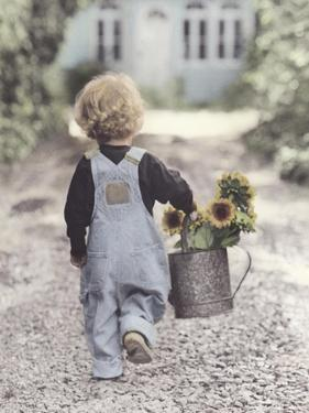 Boy with Sunflowers by Gail Goodwin