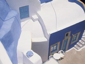 Traditionally Painted Greek House in Oia by Gail Mooney