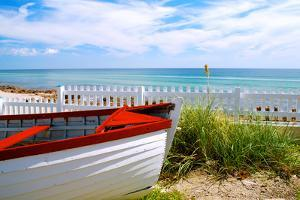 Boat by the Beach by Gail Peck