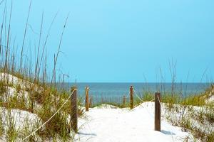 White Sandy Beach I by Gail Peck
