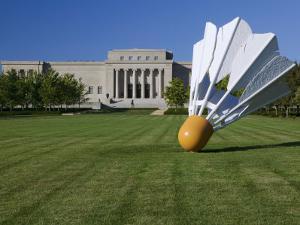 Gaint Shuttlecock Sculpture in Front of a Museum, Nelson Atkins Museum of Art, Kansas City