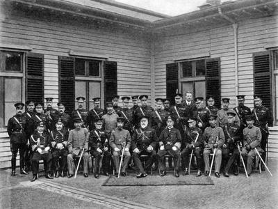 King Edward VII, Prince Fushimi and Staff, Aldershot Command, 1908-1909