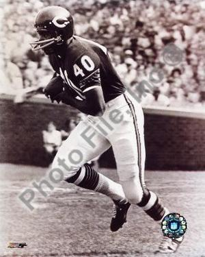 Gale Sayers - Running, sepia