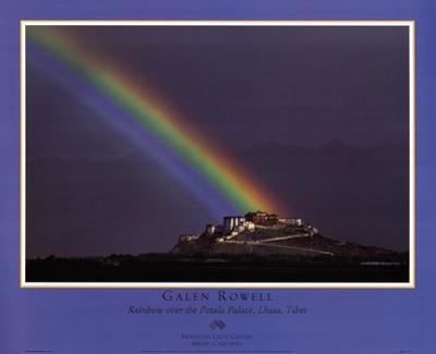 Rainbow Over The Potala Palace by Galen Rowell