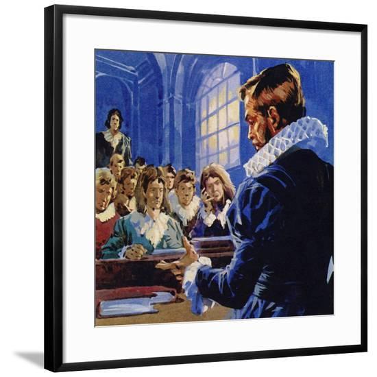 Galileo Became a Professor of Mathematics at Padua--Framed Giclee Print