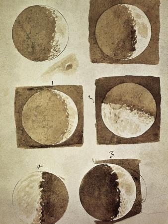 Depiction of the Different Phases of the Moon Viewed from the Earth