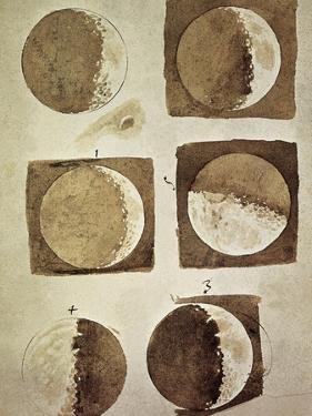 Depiction of the Different Phases of the Moon Viewed from the Earth by Galileo