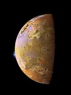 Galileo Spacecraft Image of a Volcanic Plume on Io