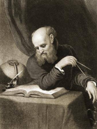 Galileo with Compass and Diagrams, C.1880