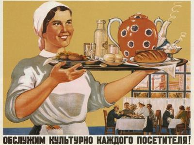 We'll Serve Every Visitor Politely!, 1948