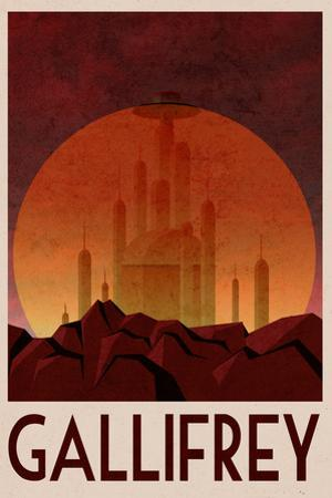 Gallifrey Retro Travel Plastic Sign