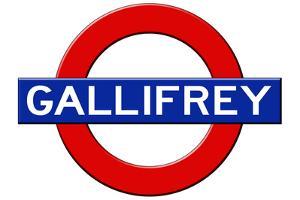 Gallifrey Subway Sign Travel Poster