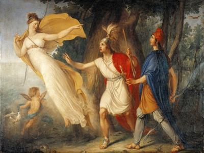 Venus in Form of Huntress Appears to Aeneas on Shores of Libya