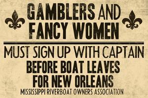 Gamblers and Fancy Women Sign Up Vintage New Orleans