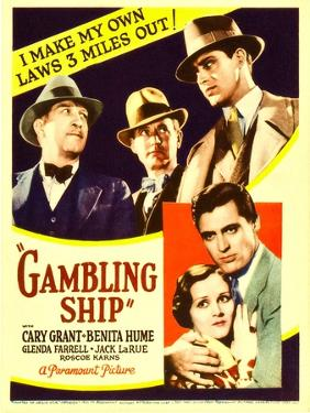 Gambling Ship, Jack La Rue, Roscoe Karns, Cary Grant, 1933