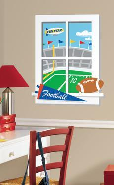 Game Day Football Peel & Stick Window Wall Decal