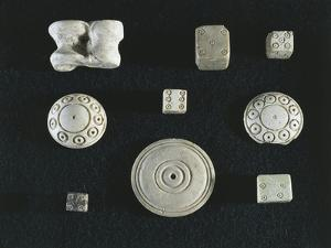 Game Objects Made from Ivory, Dice, Knucklebones