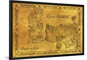 Game Of Thrones - Antique Map