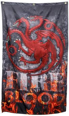 Game of Thrones- Targaryen Fire and Blood Banner