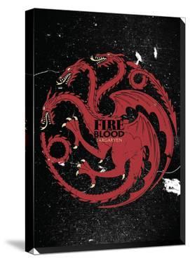 Game Of Thrones Targaryen Sigil Canvas Banner