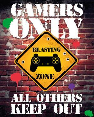 gamers only controller keep out gamers only controller keep out mini poster