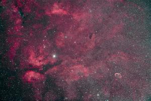 Gamma Cygni Nebulosity Complex with the Crescent Nebula