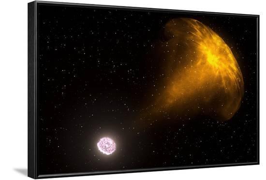 Gamma Ray Burst from Colliding Neutron Stars--Framed Photographic Print