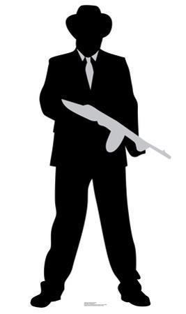 Gangster Tommy Gun Silhouette
