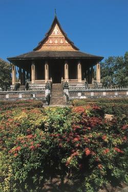 Garden in Front of a Temple, Ho Phra Keo, Vientiane, Laos