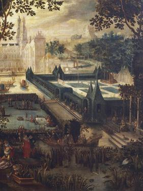 Garden of Love, Painting by Flemish School, 18th Century after Copy by David Vinckboons (1576-1632)